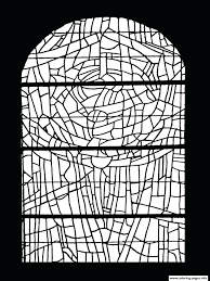Stained Glass Cross Coloring Pages Saint Servant Oust Cathedral Book Sheets Christmas Full Size