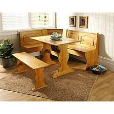 Essential Home 3 Piece Emily Breakfast Nook In Pine