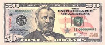 Ulysses S Grant On Money 50 Dollar Bill