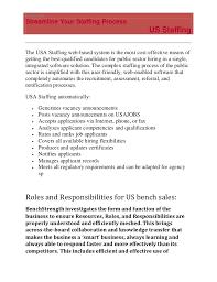 Us Staffing Bench Sales It Recruiter