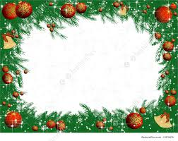 Winter Frame Christmas Party Invitations Decorated Pine Tree Branches On A White Background With