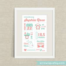 Modern Infographic Birth Announcement Poster For Baby Boys And