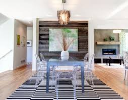 Rustic Chic Accent Walls Dining Room Wall