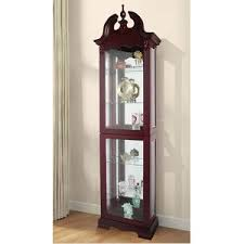 cherry display cabinets you ll wayfair