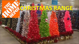Christmas Range in US store HOME DEPOT with trees and outdoor