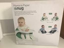siege snug mamas and papas baby snug feeding seat chair and table not bumbo