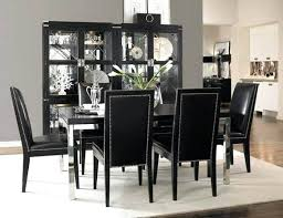 Black Wood Dining Room Table Set Furniture Decorating Ideas