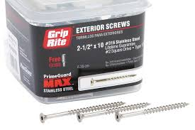 grip rite deck screws primeguard primeguard max screws professional deck builder products