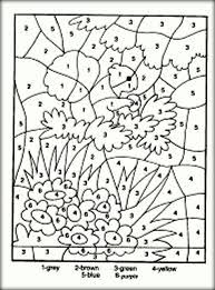 Adults Number Coloring Pages