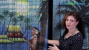 Natural Bamboo Beaded Door Curtain by Bamboo Painted Beaded Curtain 90 Strands Shopwildthings Youtube