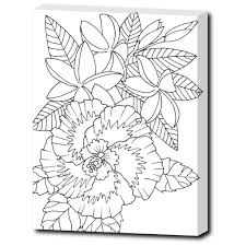 Fun Ready To Color Or Paint Tropical Flowers Image Each Of These Wrapped Canvas Designs Is From My Coloring BooksRelieve Stress While Creating Coastal