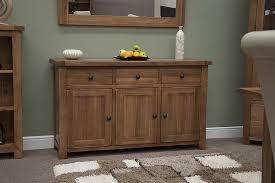 Tilson Solid Rustic Oak Dining Living Room Furniture Large Storage Sideboard