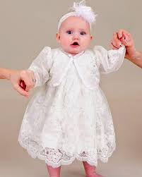 2017 new summer short white baby christening gowns with hat