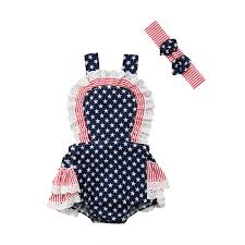 Amazoncom 4th Of July Kids Baby Girl Miss USA Letter Print