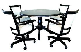 Kitchen Chairs With Casters Dining Room Table And Chairs With