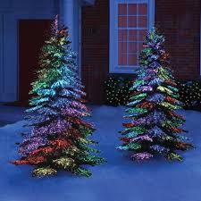 Small Fiber Optic Christmas Tree With Ornaments by The Thousand Points Of Light Tree This Is The Indoor Outdoor