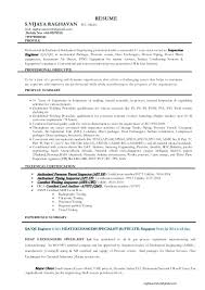 Qa Qc Resume Sample Mechanical Engineer Pdf