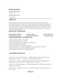 Freelance Photographer Resume Sample Photography How Example Examples