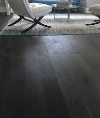 Dark Grey Hardwood Florors Wide Plank Structured Floors