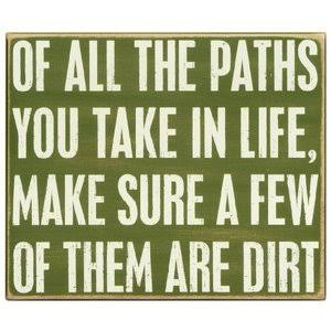 Primitives by Kathy Box Sign, of All The Paths, 12-Inch by 10-inch