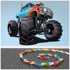 100 Monster Truck For Kids Amazoncom Blue Red Color Wall Stickers