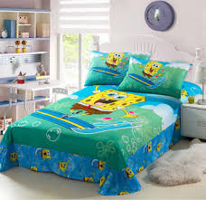 Spongebob Toddler Bedding by Gorgeous Blue Spongebob Bedding Twin For Simple White Bed With