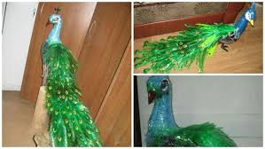 How To Make Beautiful Peacock Design With Waste Plastic Bottles