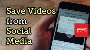 Save Instagram Snapchat Twitter & Vine Videos to Your
