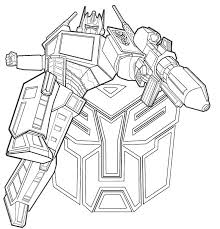 Gorgeous Design Transformers Optimus Prime Coloring Pages