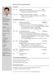 Resume Format For Two Year Experience