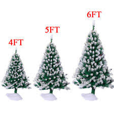6ft Christmas Tree With Decorations by Flocked Christmas Tree Ebay