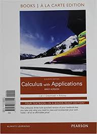 Calculus With Applications Brief Version Books A La Carte Plus MyLab Math Access Card Package 11th Edition