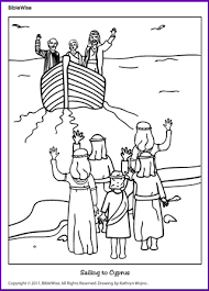 Enjoy Coloring This Picture Of Paul And Barnabas Sailing To Cyprus