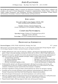 Career Change Resume Examples Sample Functional Resumes For John Eastwood