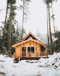 100 Small Cozy Homes Cabin In The Snow In Washington State 1080 X 1350