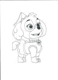 Skye Paw Patrol Coloring Pages On Download Sheets
