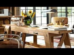 Pottery Barns Bench Style Office Desk Rustic Look And Modern Design