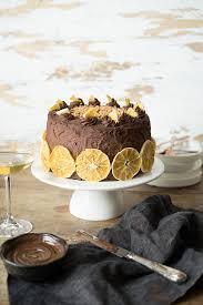 schokoladen orangen torte mit mandeln und schoko ganache