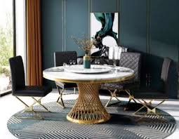 design holz tisch runder esstisch rund ess tische 130cm luxus klasse wohnzimmer