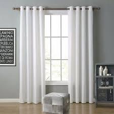 details zu oxford gardine vorhang schlaf wohnzimmer mit ösen uni weiß 1er pack