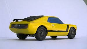 MUSTANG BOSS 302 1970 PINEWOOD DERBY CAR
