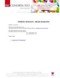 primary services messe munchen
