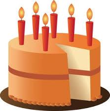 Fall Birthday Cake Clipart