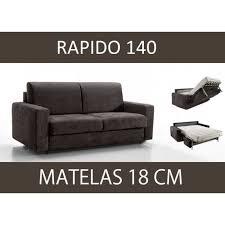 canap convertible matelas canapé lit 3 places master convertible rapido 140 cm microfibre