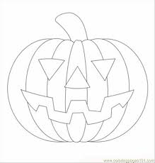 Halloween Pumpkin T Coloring Page
