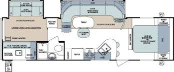 2011 Coleman Travel Trailer Floor Plans by Forest River Campers Bunkhouse King Bed And 2 Bath 5th Wheel