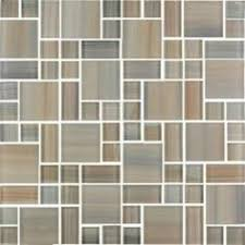 craftsman kitchen with slate glass mosaic tile linear brown