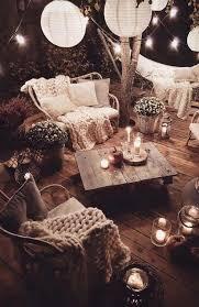 hygge style garden lounges deko dekoration