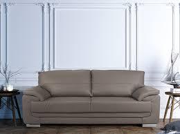 canapes 3 places pack taupe comprenant un canapé 3 et 2 places pas cher