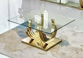 azurit designer couchtisch gold edelstahl wohnzimmertisch